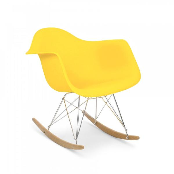 Fauteuil type charles eames rar jaune discount design for Reproduction fauteuil charles eames