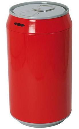 poubelle canette 30 litres rouge discount design. Black Bedroom Furniture Sets. Home Design Ideas