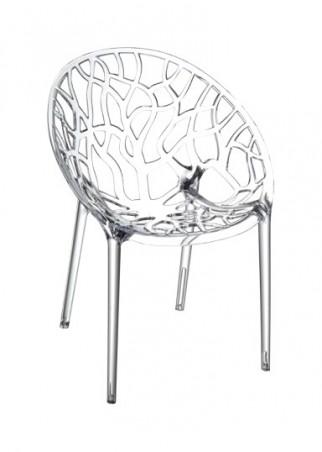 4 Chaises Round Transparentes En Polycarbonate