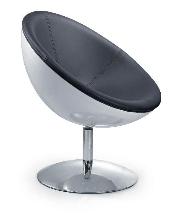 Fauteuil half moon noir et blanc discount design - Fauteuil design noir et blanc ...