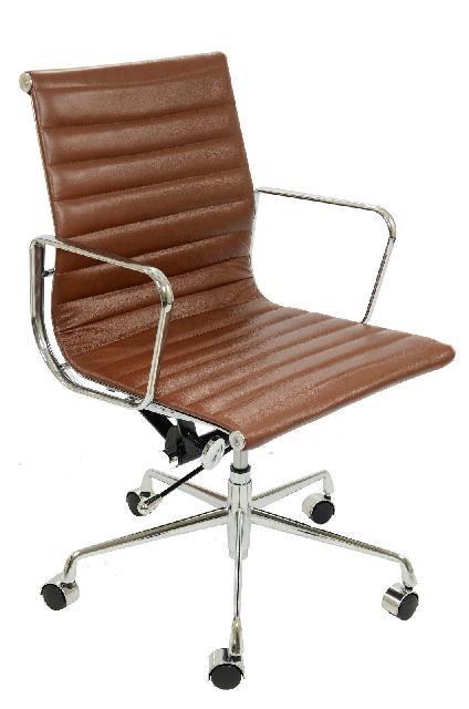 fauteuil eames alu ea117 en cuir marron discount design. Black Bedroom Furniture Sets. Home Design Ideas