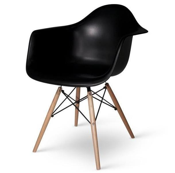Lot de 4 fauteuils charles eames daw noir discount design - Fauteuil charles eams ...