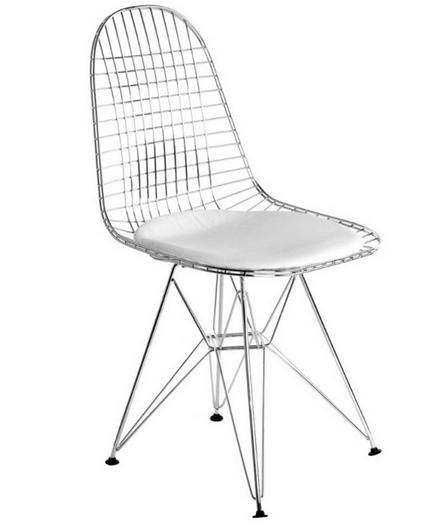 Chaise charles eames dkr blanc discount design - Coussin chaise eames ...