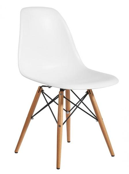 Lot de 4 chaises charles eames dsw blanc port discount for Chaise design dsw blanche blanc