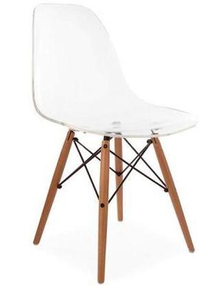 lot de 4 chaises charles eames dsw transparent discount design. Black Bedroom Furniture Sets. Home Design Ideas