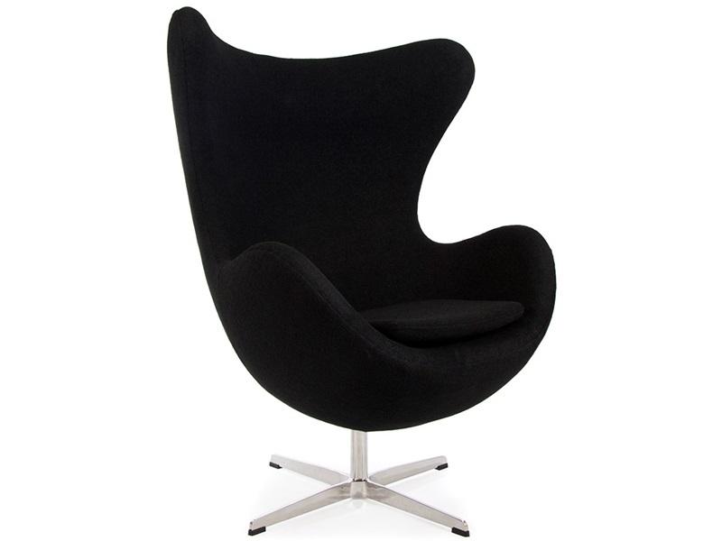 fauteuil egg noir style jacobsen - Fauteuil Egg Jacobsen
