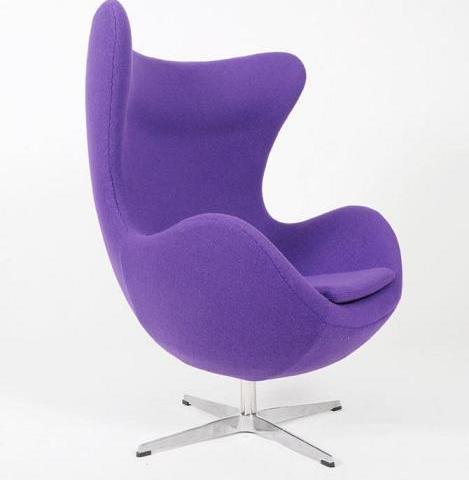 fauteuil egg violet discount design. Black Bedroom Furniture Sets. Home Design Ideas