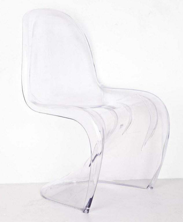 chaise fantome elegant cheap chaise design verner panton grise aluminium argente gris argent en. Black Bedroom Furniture Sets. Home Design Ideas
