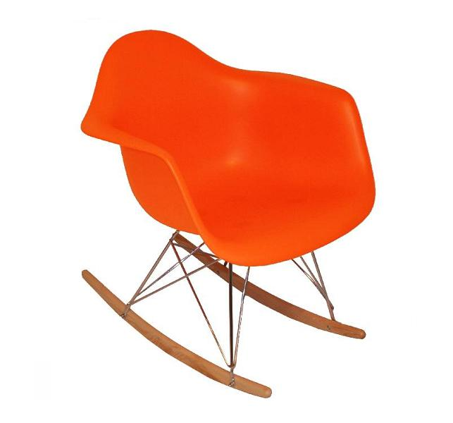 Fauteuil type charles eames rar orange discount design for Fauteuil type eames