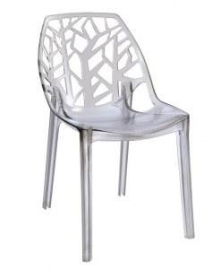 Lot de 4 Chaises FOIL transparentes design