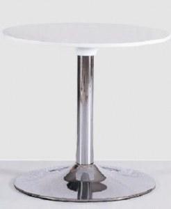 Table basse inox blanche