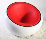 Fauteuil SCOOP blanc rouge noir