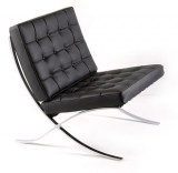 fauteuil barcelona en cuir noir