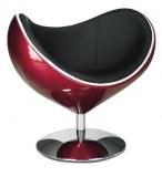 Fauteuil moon design rouge et noir