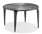 1 table en resine tressee gris bi-color design