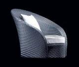 Fauteuil en resine tressee design bi-color gris