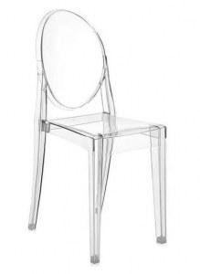 4 Chaises type Ghost transparentes design en polycarbonate