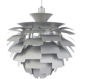 Suspension design Artichoke colori argent 58 cm