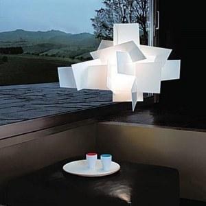 Lampe suspension design type big bang diamètre 65 cm blanche