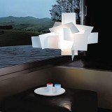 Lampe suspension design type big bang diamètre 95 cm blanche