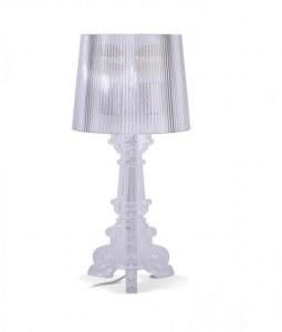 Lampe de table transparente inspirée Bourgie