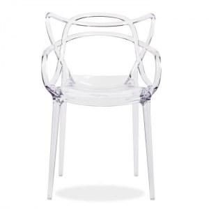 Lot de 6 chaises type master transparentes + port