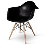 Lot de 4 fauteuils Charles EAMES DAW noir
