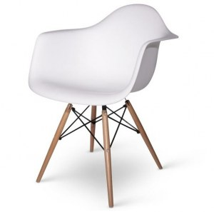 Fauteuil charles eames daw blanc discount design for Fauteuil type eames