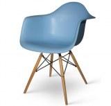 Lot de 4 fauteuils Charles EAMES DAW Bleu