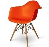 Lot de 4 fauteuils Charles EAMES DAW Orange