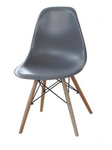 Chaise type eames dsw blanc discount design for Chaise dsw grise