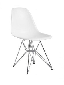 Lot de 4 chaises Charles EAMES DSR Blanc