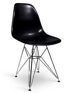 Lot de 4 chaises Charles EAMES DSR noir