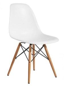 Lot de 4 chaises Charles EAMES DSW Blanc