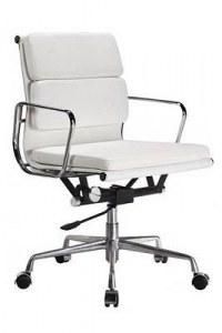 Fauteuil Soft Pad Group EA217 Eames blanc