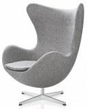 fauteuil egg gris clair type Jacobsen