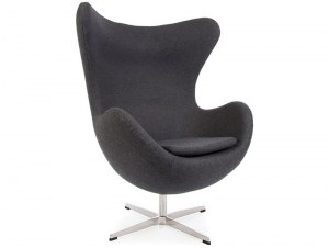 fauteuil type jacobsen egg gris sombre anthracite