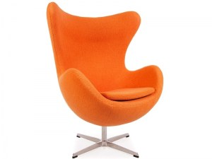 Fauteuil egg orange style Jacobsen
