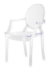 6 fauteuils type Ghost transparents en polycarbonate