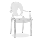2 Fauteuils type Ghost transparent design + port