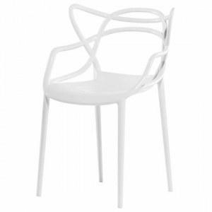 Lot de 4 chaises type master colori blanc