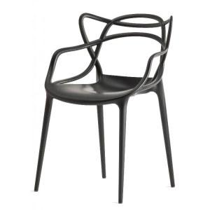 Lot de 4 chaises type master colori noir
