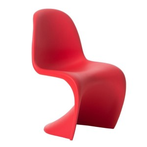 Lot de 4 Chaises type panton rouge mat
