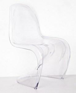 4 Chaises type panton transparentes