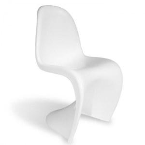6 Chaises type panton blanc brillant laqué