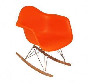 fauteuil type charles eames rar orange discount design. Black Bedroom Furniture Sets. Home Design Ideas